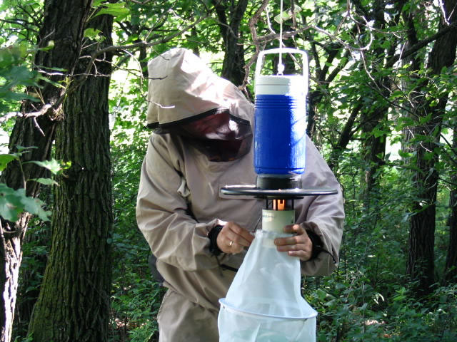 Scott with a CDC Mosquito Trap
